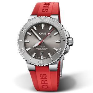 Oris 腕時計 オリス アクイス デイト レリーフ 01 733 7730 4153 43.5mm|tokeiya-ito