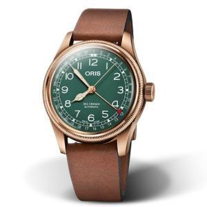 Orisオリス腕時計 ビッグクラウン ポインターデイト 80thアニバーサリーエディション 01 754 7741 3167 40mm ブロンズ製|tokeiya-ito