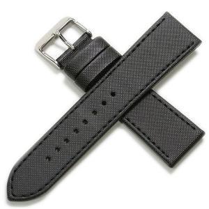 ミモザ 合成皮革 ブラック 時計ベルト|tokeiyanet