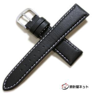 時計屋ネット 二代目タンクロー(短黒)カーフ(裏ラバー・ショートサイズ)ブラック 時計ベルト 対応サイズ:18mm|tokeiyanet