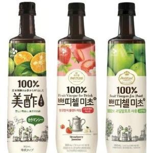 CJ 美酢 ミチョ 3フレーバー アソート 900ml×3本 コストコ ビス 美容 健康志向 フルーツ 果実酢 韓国