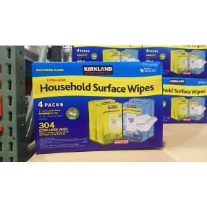 コストコ 住宅用ウェットシート 304枚 ハウスホールド サーフェイス ワイプ クリーナー カークランド シグネチャー Household Surface Wipes