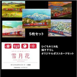 プレゼント 癒しのポストカードセット  ひぐちキミヨ氏書き下ろし5枚セット雪月花 |tokitetsu-official