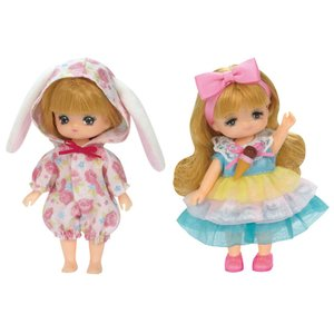 リカちゃん ドレス LW-21 ミキちゃんマキちゃんドレスセット うさちゃんパジャマとアイスクリームドレス tokiwaya