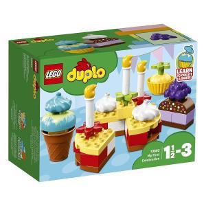 レゴ(R)デュプロのバースデーケーキセットで、カラフルなケーキを作りましょう。  ケーキにろうそくや...