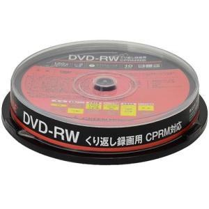 GREEN HOUSE GH-DVDRWCA10 録画・録音用 DVD-RW 4.7GB 繰り返し録画 プリンタブル 2倍速 10枚 tokka