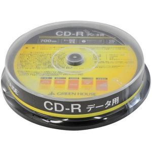 GREEN HOUSE GHCDRDA10 データ用 CD-R 700MB 一回(追記) 記録 プリンタブル 52倍速 10枚 tokka