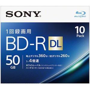 ソニー 10BNR2VJPS4 録画・録音用 BD-R DL 50GB 一回(追記)録画 プリンタブル 4倍速 10枚|tokka