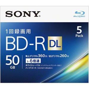 ソニー 5BNR2VJPS6 録画・録音用 BD-R DL 50GB 一回(追記)録画 プリンタブル 2倍速 5枚|tokka