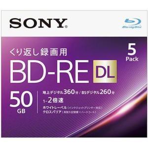 ソニー 5BNE2VJPS2 録画・録音用 BD-RE DL 50GB 繰り返し録画 プリンタブル 2倍速 5枚|tokka