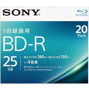 ソニー 20BNR1VJPS4 録画・録音用 BD-R 25GB 一回(追記)録画 プリンタブル 4倍速 20枚|tokka