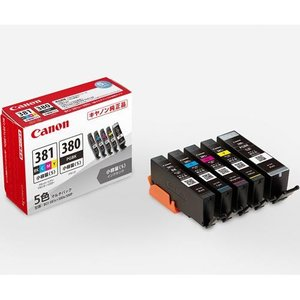 CANON BCI-381s+380s/5MP 純正 インクタンク BCI-381s+BCI-380s 5色マルチパック 小容量|tokka