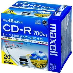 マクセル CDR700S.WP.S1P20S データ用 CD-R 700MB 1回記録 プリンタブル 48倍速 20枚 tokka