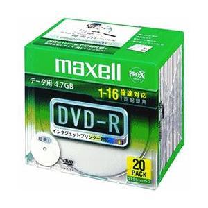 マクセル DR47WPD.S1P20S A データ用 DVD-R 4.7GB 1回記録 プリンタブル 16倍速 20枚 tokka