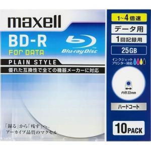 マクセル BR25PPLWPB.10S データ用 BD-R 25GB 1回記録 プリンタブル 4倍速 10枚 tokka