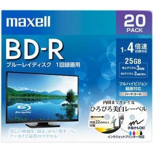 マクセル BRV25WPE.20S 録画・録音用 BD-R 25GB 一回(追記) 録画 プリンタブル 4倍速 20枚|tokka