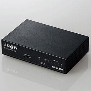エレコム EHC-G05MN2-HJB(ブラック) 1000BASE-T対応 スイッチングハブ 5ポート|tokka