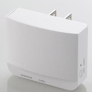 エレコム WTC-300HWH(ホワイト) 11bgn300Mbps 無線LAN中継器|tokka