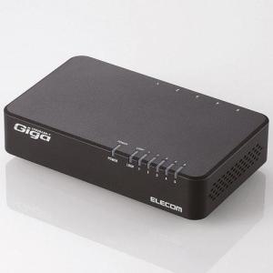 エレコム EHC-G05PN-JB(ブラック) EHC-G0XPNシリーズ スイッチングハブ 5ポート|tokka