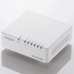 エレコム EHC-G05PA-W-K(ホワイト) EHC-G0XPA-Kシリーズ スイッチングハブ 5ポート|tokka
