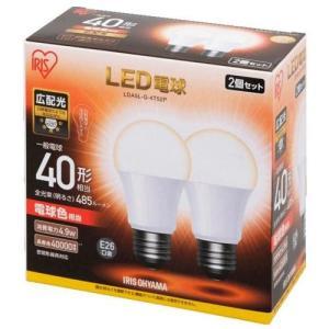 アイリスオーヤマ LDA5L-G-4T52P (電球色) LED電球 E26口金 40W形相当 485lm 2個セット|tokka