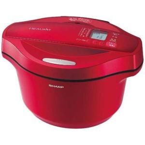 シャープ 水なし自動調理鍋 HEALSiO ヘルシオ ホットクック 2.4L KN-HT24B-R(レッド)
