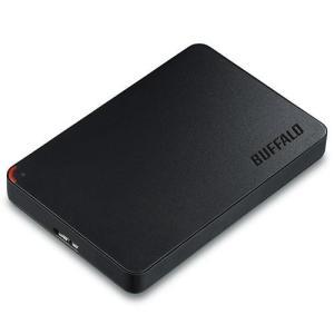 バッファロー HD-PCF500U3-BD(ブラック) MiniStation(ミニステーション) ポータブルHDD 500GB USB3.0接続