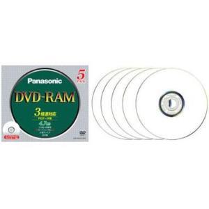 パナソニック LM-HC47LW5 データ用 DVD-RAM 4.7GB 繰り返し記録 プリンタブル 3倍速 5枚