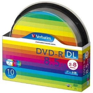 Verbatim DHR85HP10SV1 データ用 DVD-R DL 8.5GB 1回記録 プリンタブル 8倍速 10枚|tokka