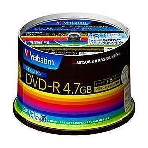 Verbatim DHR47JDP50V3 データ用DVD-R 4.7GB 1回記録 プリンタブル 16倍速 50枚|tokka