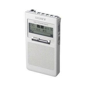 【長期保証付】ソニー XDR-63TV-W(ホワイト) ワンセグTV音声受信ポケッタブルラジオ
