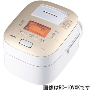 【長期保証付】東芝 RC-18VXK-W(グランホワイト) 鍛造かまど本丸鉄釜 真空圧力IH炊飯器 1升