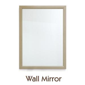 鏡 壁掛け 置き鏡 サイズ 56×76cm ナチュラル ミラー 長方形 木目調 toko-m