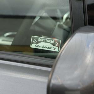 お得な3枚セット車用 セキュリティ ステッカー Don't Touch 長方形カーセキュリティー ダミー 耐水 防水 car security 盗難防止ステッカー シール|toko-m