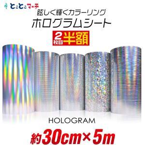 2枚目半額 ステカ対応 約300mm×約5m ホログラムシート 約30cm×約5メートル ホログラム...