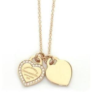 ティファニー Tiffany  ネックレス ダイヤモンドx18K ローズゴールド 28751257