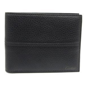 カルティエ 財布 メンズ二つ折りカード(小銭入れなし) サドルステッチ ブラック L3001158 toko-putih