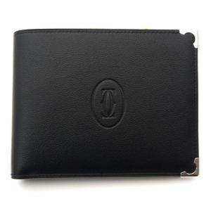 カルティエ 財布 二つ折り マスト ドゥ カルティエ ブラックxボルドー L3001369