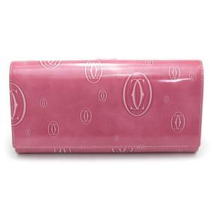 カルティエ Cartier 長財布 財布 Wホック ピンク ハッピー バースデー L3001516 toko-putih