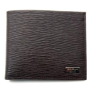 フェラガモ ferragamo 財布 メンズ二つ折りカード(小銭入れなし) REVIVAL ダークブラウン 66-7068|toko-putih