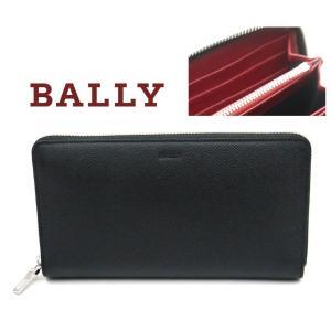 バリー BALLY 長財布 財布 ラウンド ブラックxレッド BALEN.B 216|toko-putih