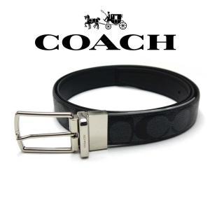 コーチ Coach ベルト リバーシブル メンズ F64825CQ/BK コーチ アウトレット toko-putih