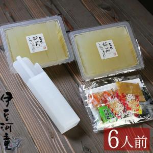 お試し ところてん 6食 初めての方 限定 セット プラスチック突き棒付 柿田川名水 和菓子|tokoroten