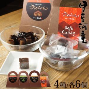 バレンタイン ヴァレンタイン にも  チョコろてん チョコろてん飴 アソート 4種×6個セット ソフトキャンディ 寒天飴 グミ チューイングキャンディ asu|tokoroten