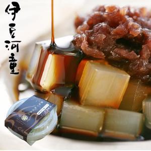 カップ入りの、伊豆甘味処 角心太あんみつは、角切りタイプのスイーツところてんです。  ■原材料名: ...