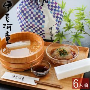 ギフト ところてん 6人前 セット プラスチック 突き棒付 巾着入り 柿田川名水 手土産 和菓子 asu|tokoroten