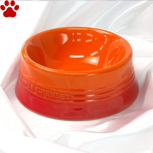 ル・クルーゼ ペットボール M オレンジ ペット 食器 おしゃれ かわいい フードボウル ルクルーゼ Le Creuset Pet tokoton-dogfood
