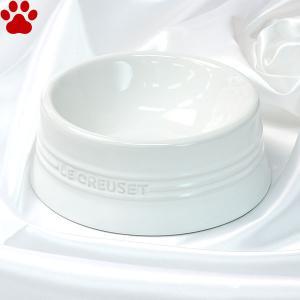 ル・クルーゼ ペットボール M ホワイト ペット 食器 おしゃれ かわいい 白 フードボウル ルクルーゼ Le Creuset Pet tokoton-dogfood