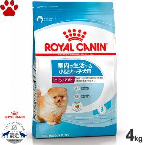 ロイヤルカナン 犬ドライ ミニ インドア パピー 4kg 室内で生活する小型犬の子犬用 成犬時体重10kgまで 10か月齢まで ドッグフード SHN|tokoton-dogfood