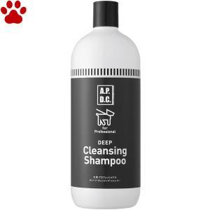 APDC 犬用 ディープクレンジングシャンプー 1L クレンジング 高洗浄 しっかり 皮脂汚れ 部分洗い ひどい汚れ ベタベタ ディープクレンジング tokoton-dogfood